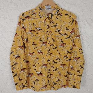 Pheasant Hound Hunting Mustard Yellow Shirt